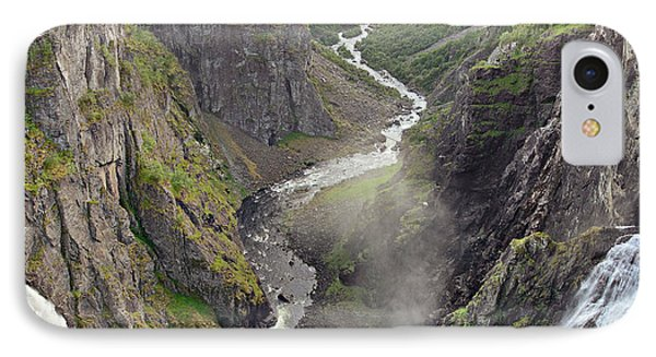 Voringsfossen Waterfall And Canyon IPhone Case by IPics Photography
