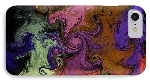 IPhone Case featuring the digital art Vortex Two by Iowan Stone-Flowers