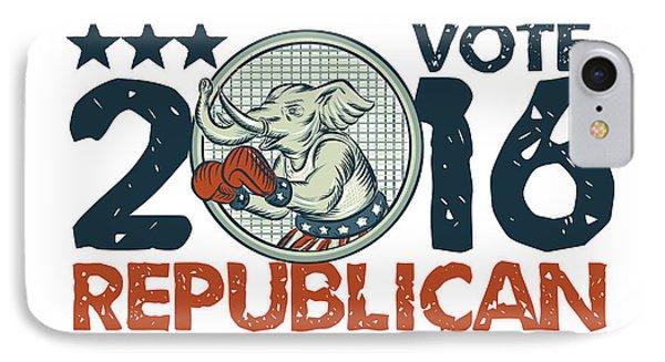 Vote Republican 2016 Elephant Boxer Circle Etching IPhone Case