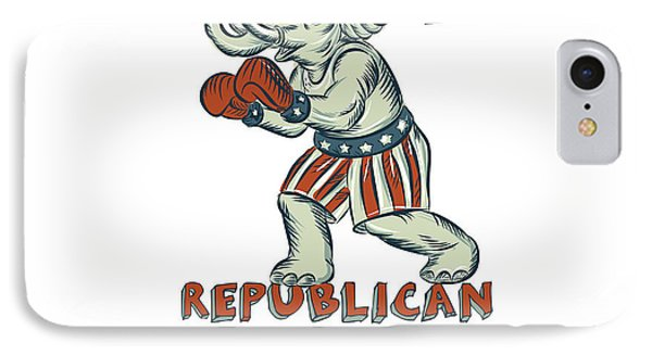 Vote Republican 2016 Elephant Boxer Isolated Etching IPhone Case