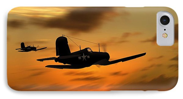 Vought Corsairs At Sunset IPhone Case by John Wills