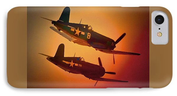 Vought F4u Corsair Sunset Two Ship IPhone Case