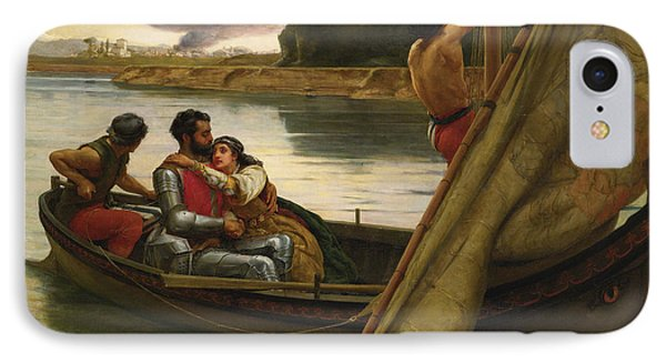 Voyage Of King Arthur And Morgan Le Fay To The Isle Of Avalon IPhone Case