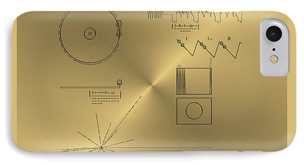 Voyager Golden Record Cover IPhone Case
