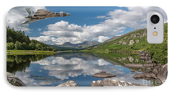 Vulcan Over Lake IPhone Case