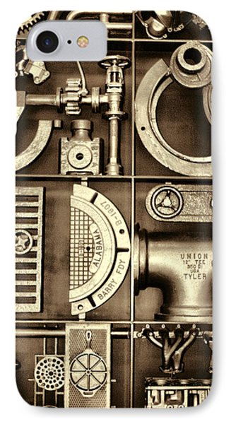 Vulcan Steel Steampunk Ironworks Phone Case by Kathy Clark