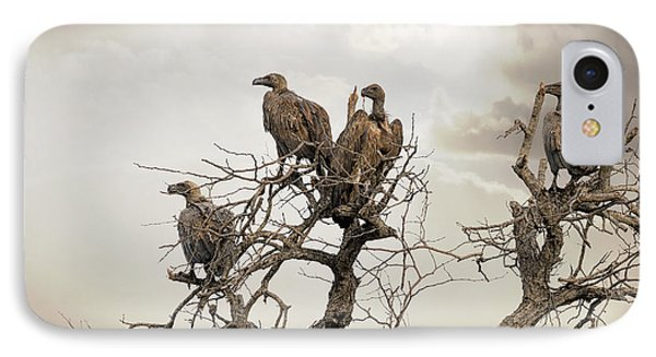 Vultures In A Dead Tree.  IPhone 7 Case by Jane Rix