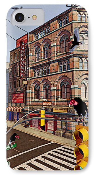 Vultures On Main Street Phone Case by Peter J Sucy