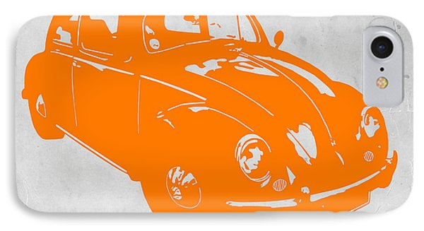 Vw Beetle Orange IPhone Case by Naxart Studio