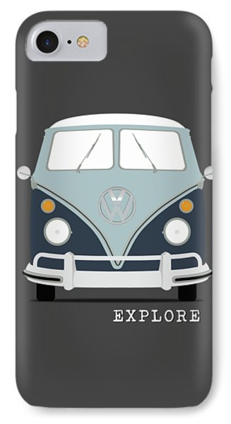 Vw Bus Blue IPhone Case by Mark Rogan