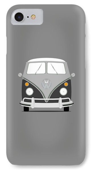 Vw Bus Grey IPhone Case by Mark Rogan