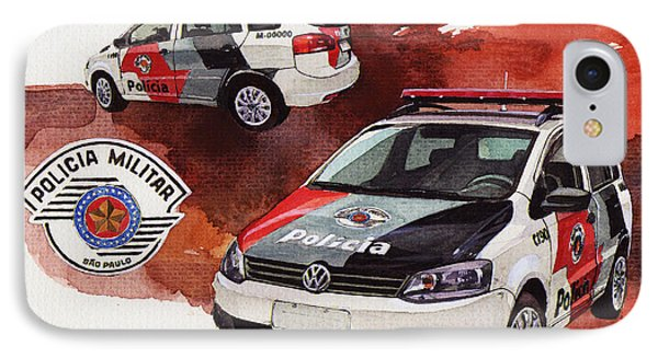 Vw Spacebox  Military Police Car IPhone Case