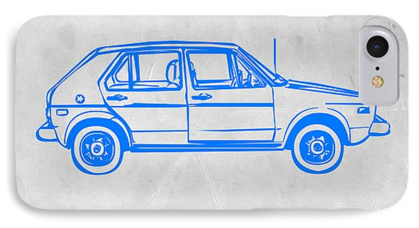 Vw Golf IPhone Case by Naxart Studio
