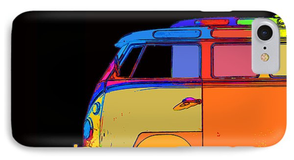 Vw Surfer Bus Square IPhone Case by Edward Fielding
