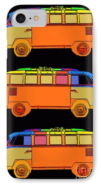 Vw Surfer Van 3x IPhone Case by Edward Fielding