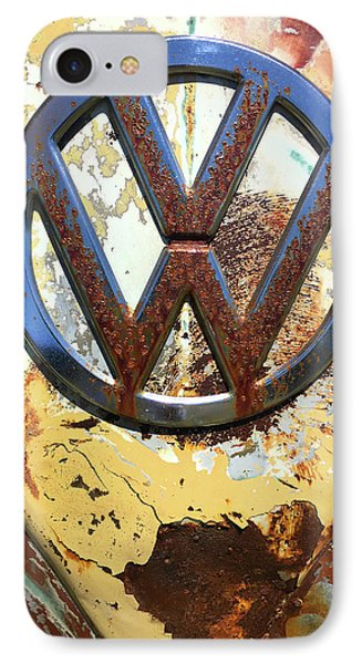 Vw Volkswagen Emblem With Rust IPhone Case