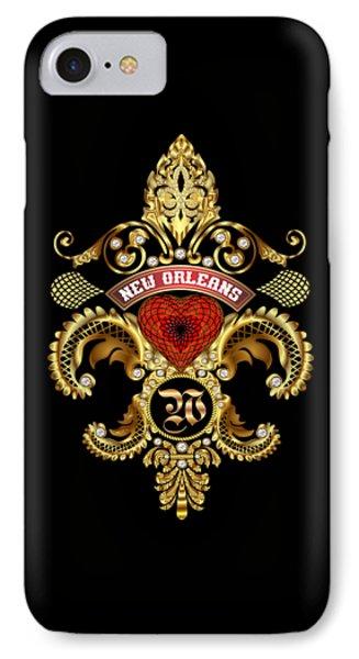 W-fleur-de-lis New Orleans Transparent Back Pick Color IPhone Case