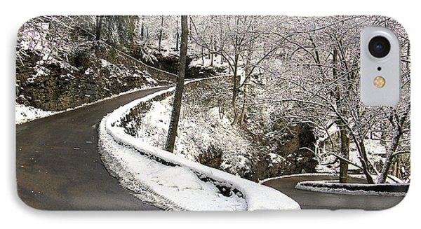 W Road In Winter IPhone Case