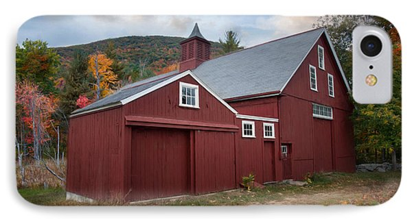 IPhone Case featuring the photograph Wachusett Barn by Robin-Lee Vieira
