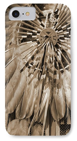 IPhone Case featuring the photograph Wacipi Dancer In Sepia by Heidi Hermes