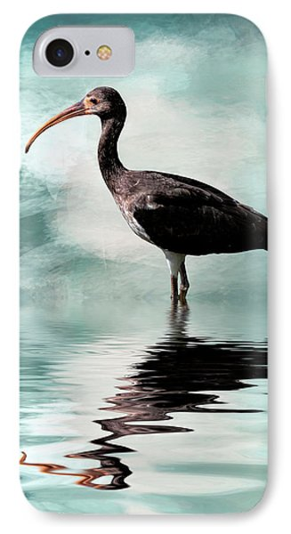 Wading Ibis IPhone Case by Cyndy Doty