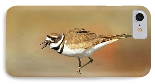 Wading Killdeer IPhone Case by Donna Kennedy