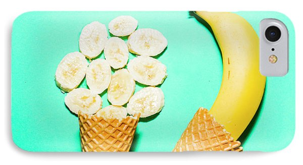 Waffle Cones With Fresh Banana IPhone Case by Jorgo Photography - Wall Art Gallery