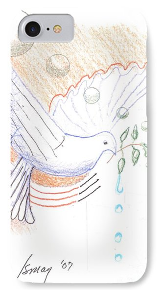 IPhone Case featuring the drawing Wage Peace by Rod Ismay