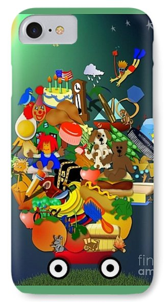 Wagon Of Toys Without White Frame Phone Case by Bob Winberry