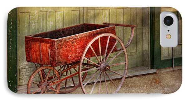 Wagon - That Old Red Wagon  Phone Case by Mike Savad