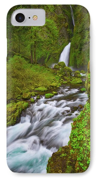 IPhone Case featuring the photograph Wahclella Falls by Darren White