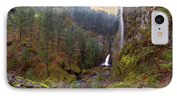 Wahclella Falls In Columbia River Gorge Phone Case by David Gn