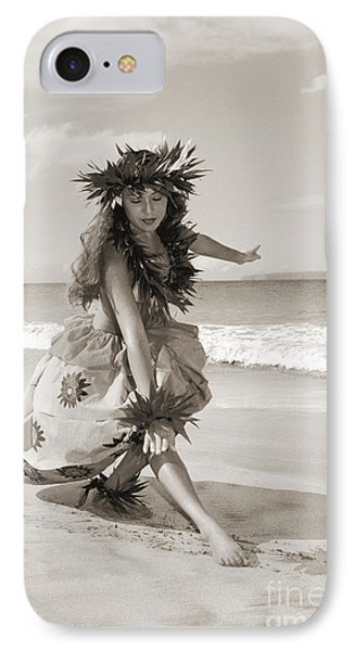 Wahine Hula IPhone Case by Himani - Printscapes