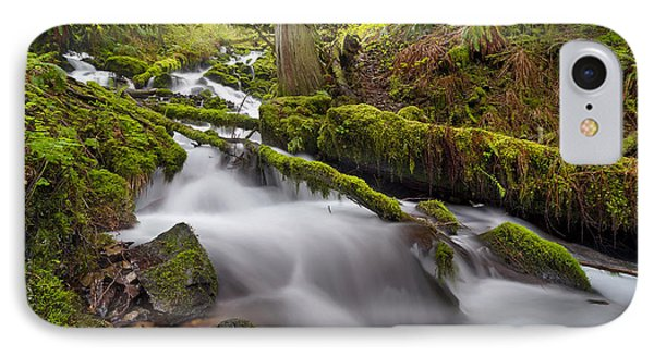 Wahkeena Creek In Green Phone Case by David Gn