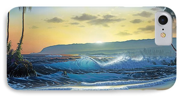 Waialua Daybreak IPhone Case by Al Hogue