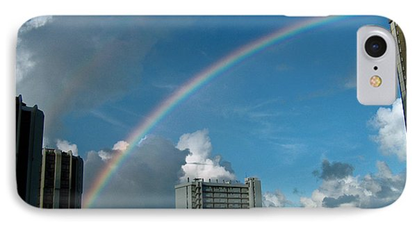 IPhone Case featuring the photograph Waikiki Rainbow by Anthony Baatz