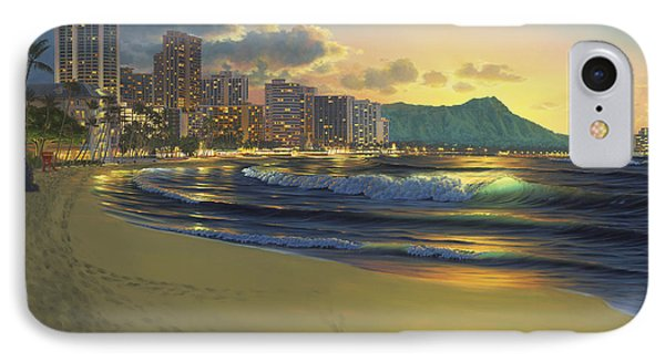 Waikiki Sunrise IPhone Case by Al Hogue