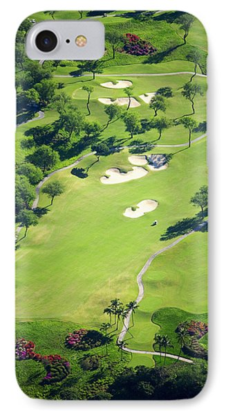 Wailea Gold And Emerald Courses Phone Case by Ron Dahlquist - Printscapes