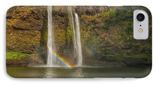 Wailua Falls Rainbow Phone Case by Brian Harig