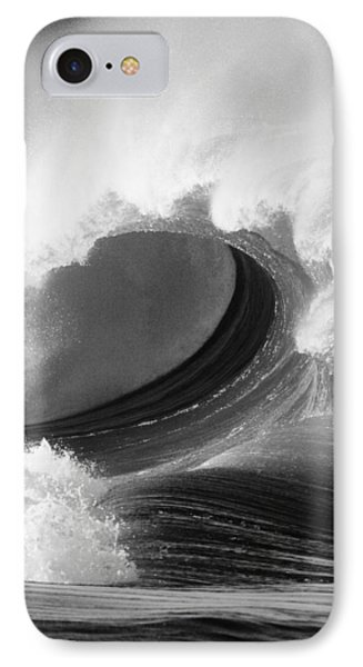 Waimea Bay Wave - Bw IPhone Case by Vince Cavataio - Printscapes