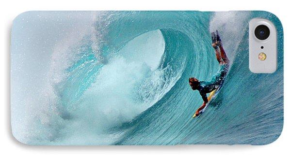 Waimea Bodyboarder Phone Case by Kevin Smith