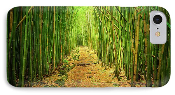 Waimoku Bamboo Forest IPhone Case by Inge Johnsson