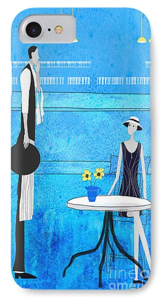 Waiter And Lady IPhone Case