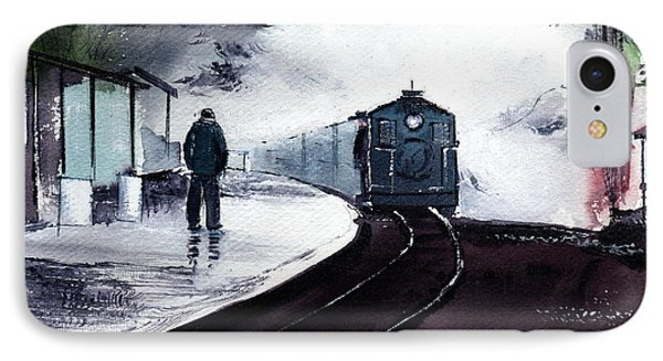 IPhone Case featuring the painting Waiting by Anil Nene