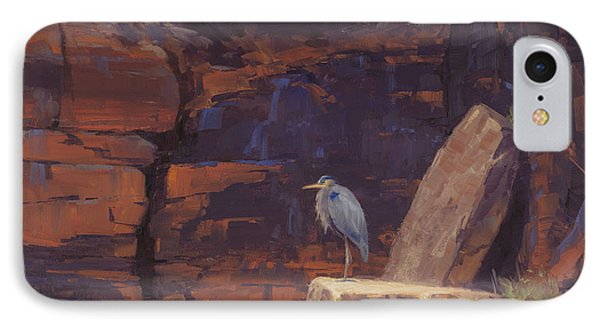 Heron iPhone 7 Case - Waiting by Cody DeLong
