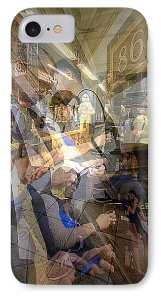 Waiting For 6 Train Collage IPhone 7 Case by Dave Beckerman