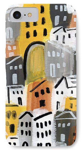 Waiting For Autumn- Expressionist Art IPhone Case by Linda Woods