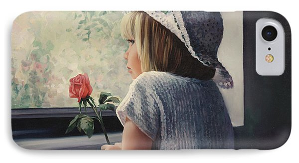 Waiting For Daddy IPhone Case by Laurie Hein