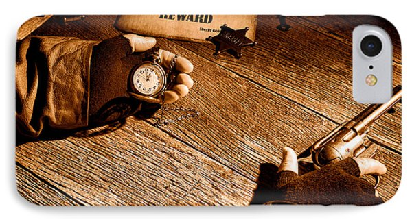 Waiting For High Noon - Sepia IPhone Case