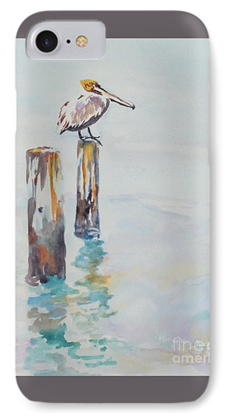 IPhone Case featuring the painting Waiting For Lunch by Mary Haley-Rocks